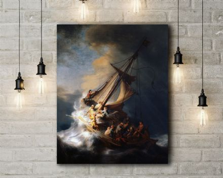 Rembrandt: The Storm on the Sea of Galilee. Fine Art Canvas.